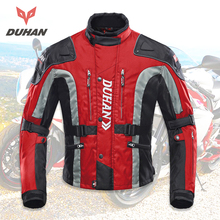 DUHAN Motorcycle Jacket Motocross Equipment Gear Men Cold-proof Moto Clothing Oxford Cloth Cotton Underwear