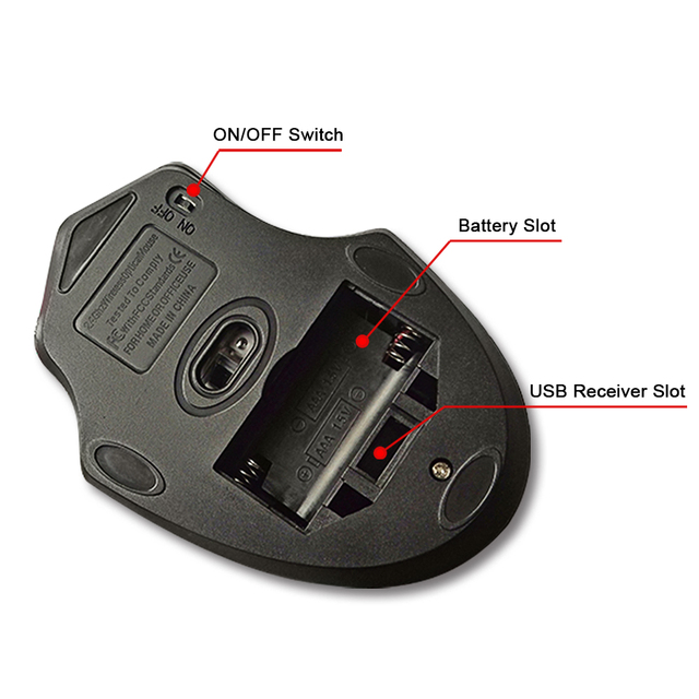 USB Wireless Gaming Mouse USB 3.0 Receiver 3