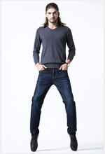 ЕВРО 2016 шерстяные вниз зимние джинсы мужские брюки плюс размер теплый разборная мужские джинсы стрейч брюки вниз прямо джинсы Y46