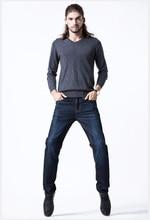 EURO 2016 woolen down winter jeans men s trousers plus size warm dismountable men s jeans