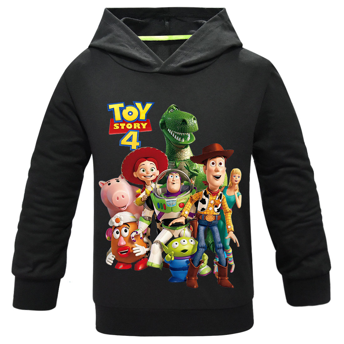 2019 Movie Toy Story 4 Forky Alien Woody Hoodies Sweatshirt Kids T-shirt Children Clothes Boys Girls Pullover Tops Casual Tshirt(China)