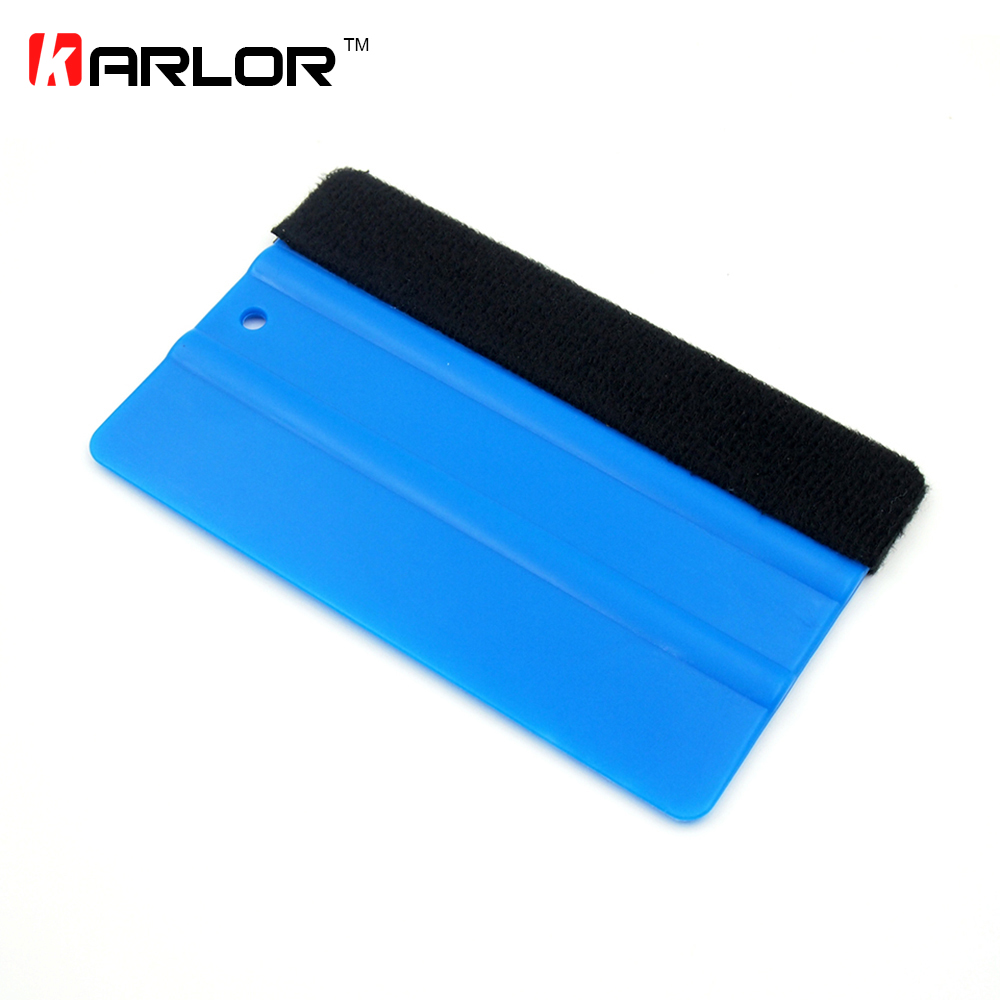 цена на 1PCS Car Vinyl Film wrapping tools Blue Scraper squeegee with felt edge size 12.5cm*8cm Car Styling Stickers Accessories
