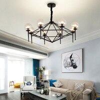 American magic bean molecular glass ball creative chandelier Nordic E27 6 / 8 heads lamp living room restaurant Home Lighting