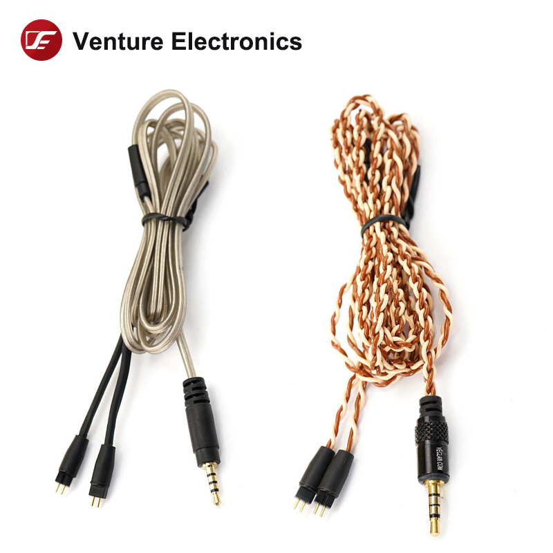 Venture Electronics VE Basic <font><b>0.78</b></font> <font><b>2pin</b></font> to 3.5SE 2.5trrs 3.5trrs Mic Controler <font><b>Cable</b></font> image