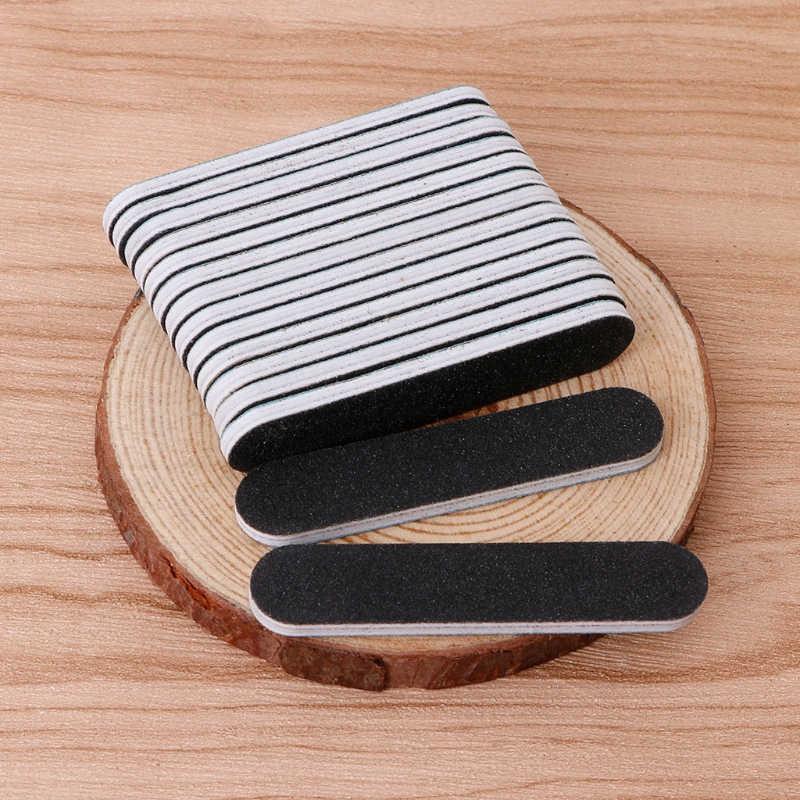Limes à ongles tampon de ponçage nouveaux conseils d'art des ongles outil de manucure beauté grain rond noir + gris outils de soin des ongles