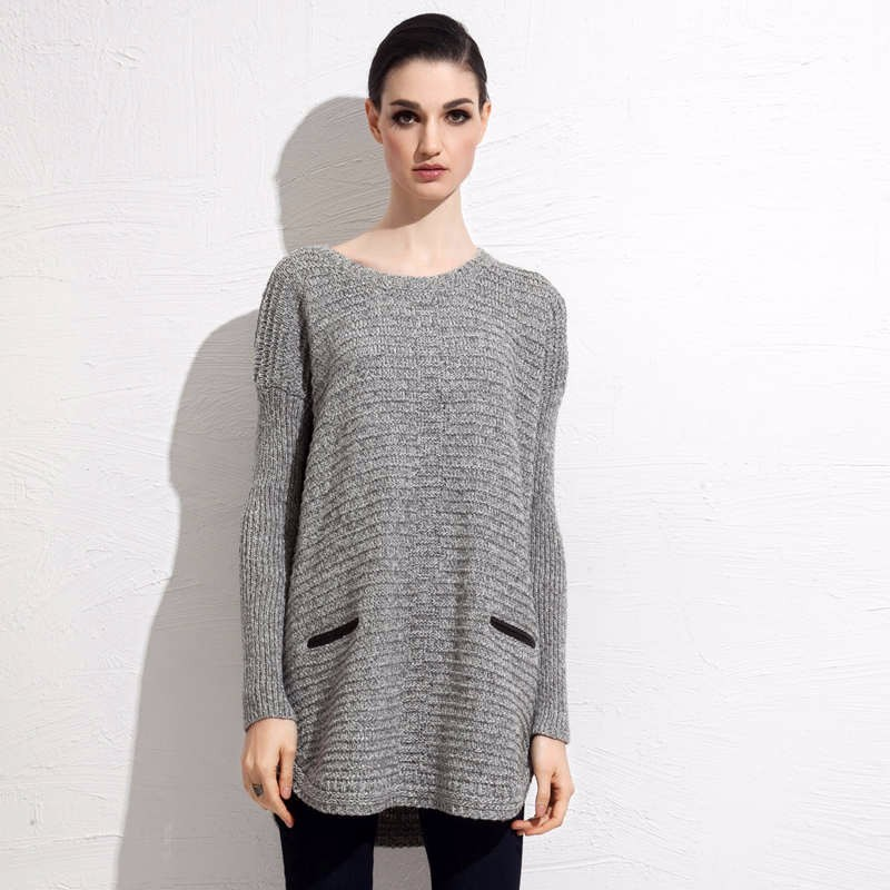 Wool Blends fall mid length sweater 4