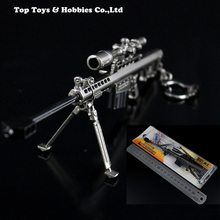 1/6 Metal ColorWeapon model Barrett M82A1 Cannon sniper rifle Gun model toy for 12 inches Soldier Figure Accessory 1 6 scale awm l96a1 full metal sniper rifle model green sand color collectible gun model