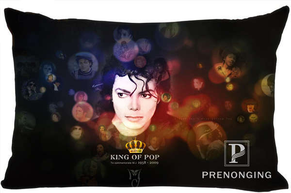 Best Custom Pillow Case Michael Jackson@01 Rectangle Pillowcases zipper 35x45cm (One Side Print) @180117-64