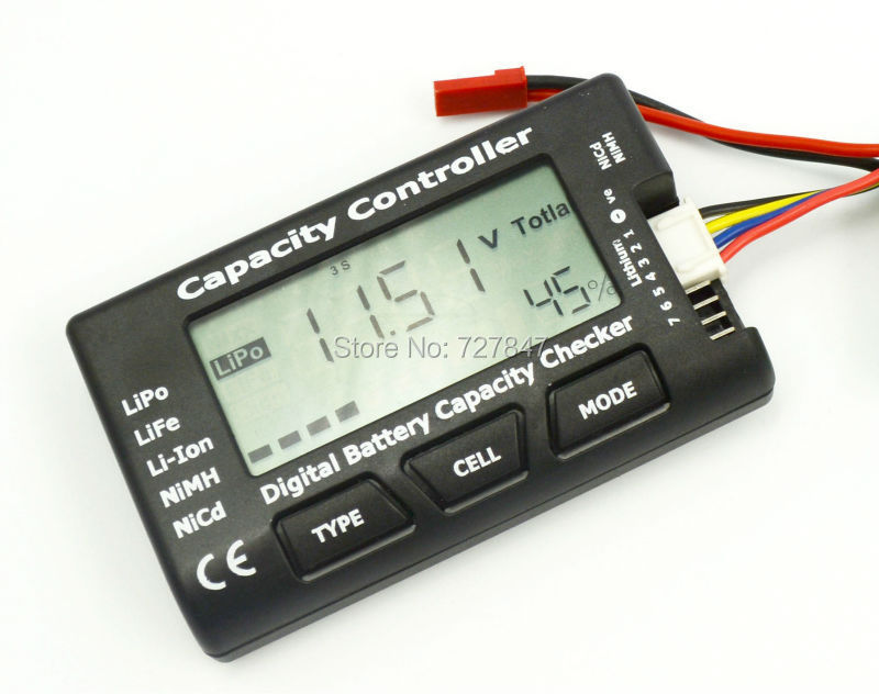 RC CellMeter-7 Digital Battery Capacity Checker LiPo LiFe Li-ion NiMH Nicd Battery Capacity tester 7 4v 500mah 50c lipo battery