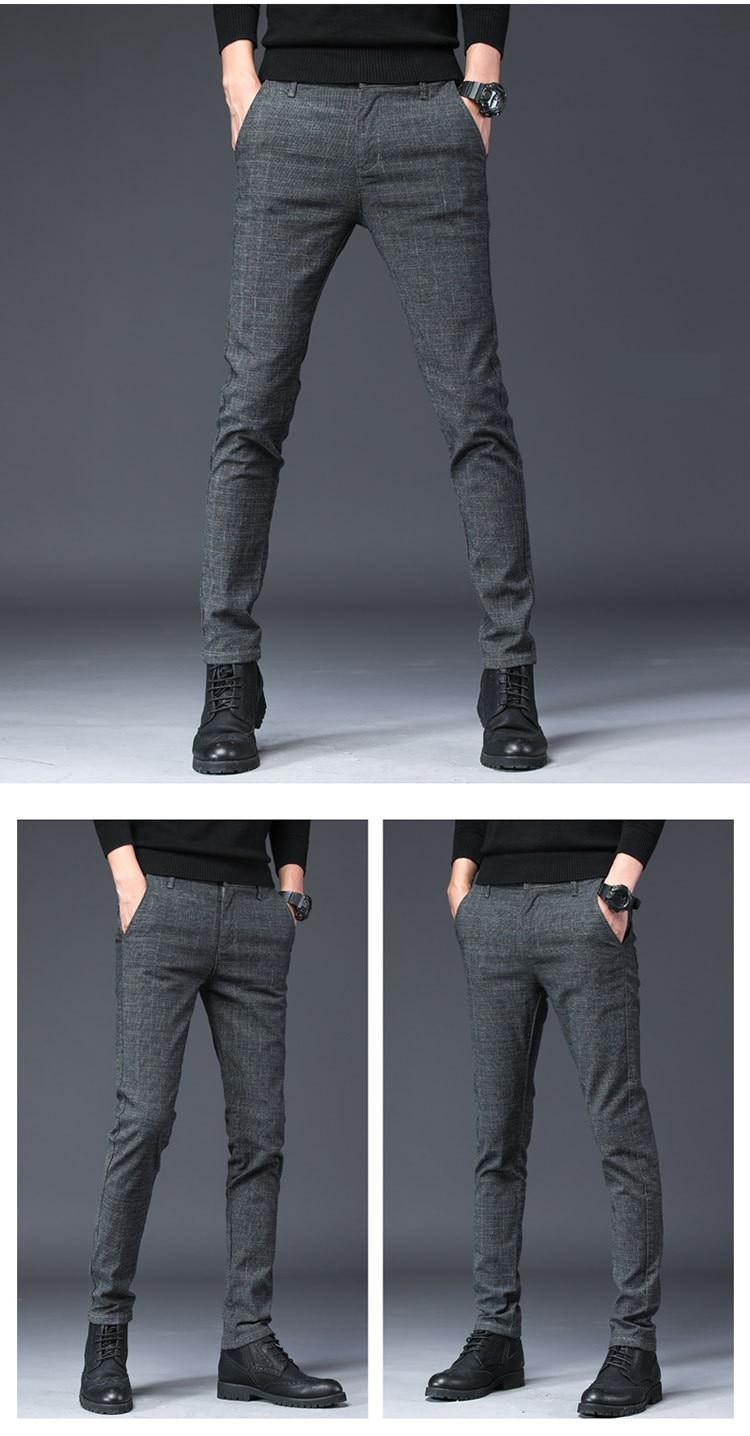 HTB1RoLGmYPpK1RjSZFFq6y5PpXaC 2019 New Design Upscale Casual Men Pants Cotton Slim Male Pant Straight Trousers Fashion Business Pants Men Plus Size 38