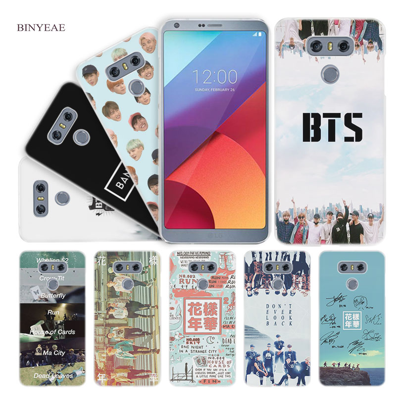BINYEAE bts bangtan boys Hard Clear Case Cover for LG Q6 G6 Mini G5 SE G4 G3 V10 V20 V30
