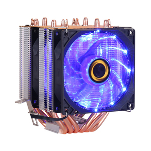 Image 3 - 6 heat pipes RGB CPU Cooler radiator Cooling 3PIN 4PIN 2 Fan For Intel 1150 1155 1156 1366 2011 X79 X99 Motherboard AM2/AM3/AM4