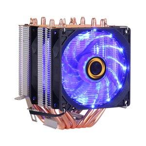 Image 3 - CPU kühler Hohe qualität 6 wärme rohre dual turm kühlung 9 cm RGB fan unterstützung 3 fans 3PIN CPU Fan für Intel und Für AMD