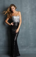 free shipping party prom gown robe de soiree 2014 new hot&sexy black paillette crystal vestidos festa long evening Dresses