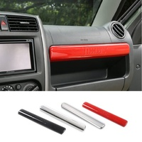 ABS Chrome Glove Compartment Cover Sticker Storage Box Decoration Sticker Suitable for Suzuki Jimny Car Styling Accessories