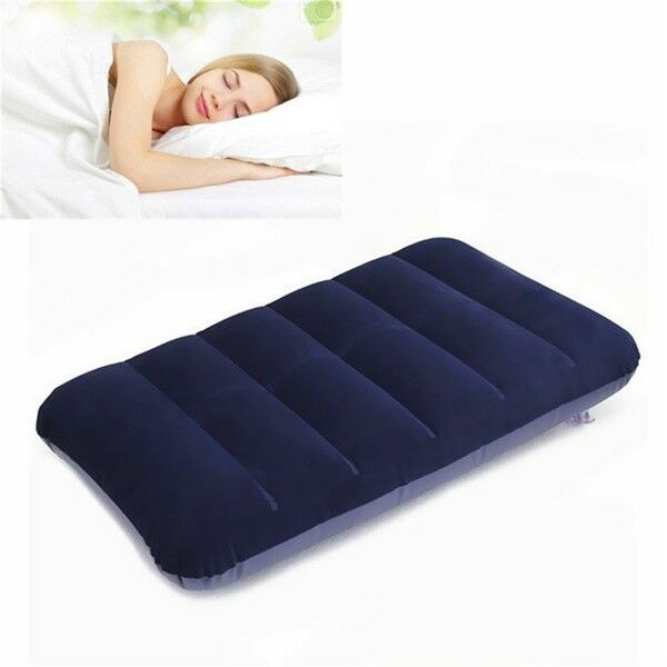 Image 2 - Foldable Pillow Outdoor Travel Sleep Pillow Air Inflatable Cushion Fr Break Rest Inflatable Portable Break Rest Pillow Blue-in Bedding Pillows from Home & Garden