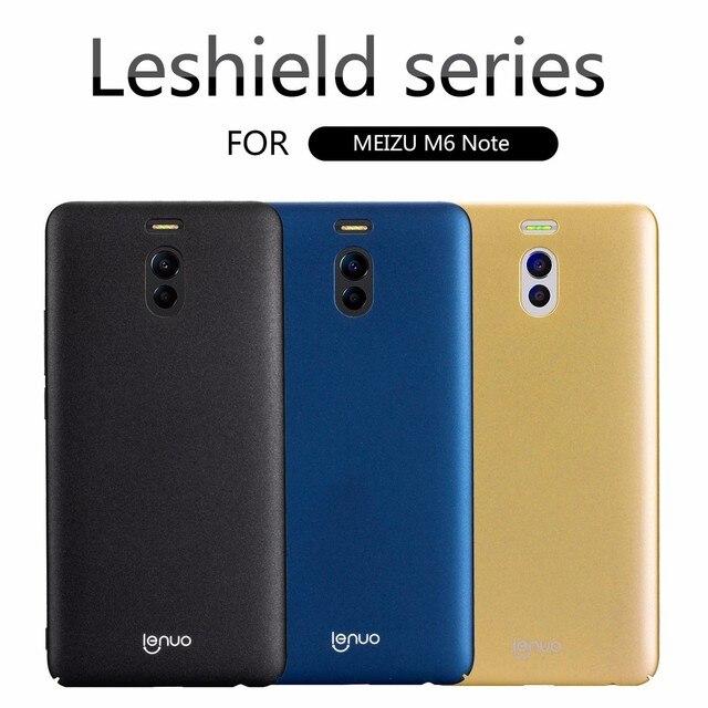 buy popular c4e41 0f8d0 US $6.59  Aliexpress.com : Buy Lenuo Meizu M6 Note Case Cover Meizu M6 Note  Leshield Luxury PC Hard Back Cover Case For Meizu M6 Note Retail Package ...