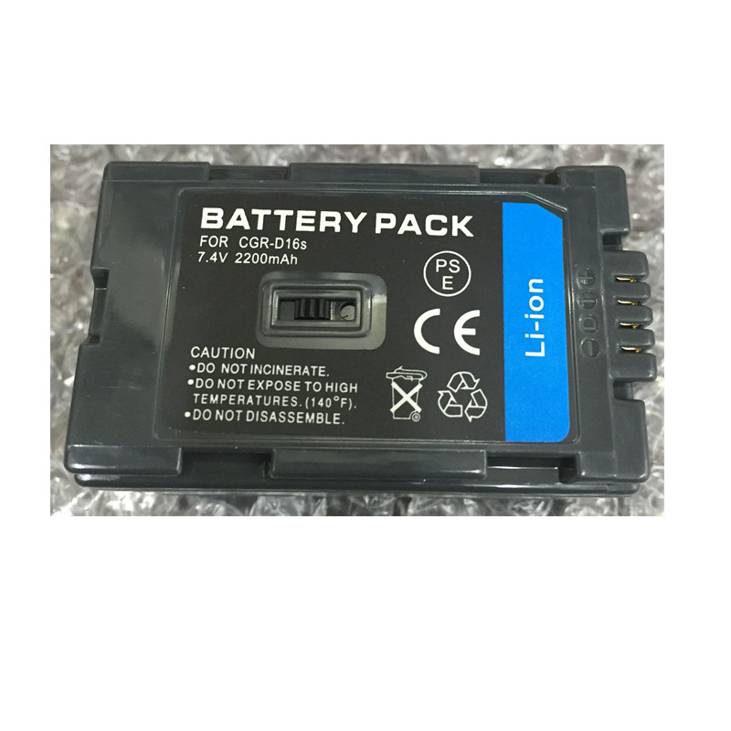 CGR-D16S CGR D16S CGR-D220 lithium batteries VW-VBD23 Digital camera Battery D16S For Panasonic AG-DVC7 DVC15 AG-DVX100 DVX1000