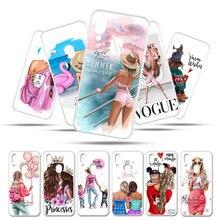 Phone Case for Umidigi Umi digi A3 Pro 5.7 Cover Cases Bumper Bags Black Brown Hair Baby Mom Girl Queen Customer