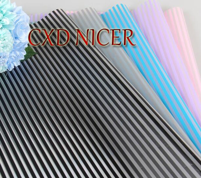 Flowers Wrapping Paper Translucent Striped Matte Paper Korean Bouquet Wrapping Paper Material Flower Shop Supplies Dd896