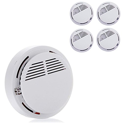 2017 New Home Safety Security System Battery Wireless Cordless Sensor Monitor Smoke Detector Fire Alarm