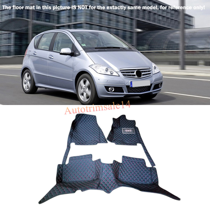 Interior Floor Mats & Carpet Foot Pad For Mercedes Benz A-Class W169 2009-2011 accessories for dodge journey fiat freemont 7seats jc 2010 2017 2015 2016 inner floor mats foot pad car leather carpet kits
