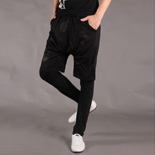 2017 Nan Summer fashion male harem pants slim trousers regular style faux two piece personality male  trousers 27-34