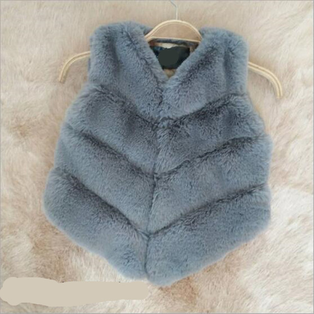 a179d8dd7955 Furry 2018 Faux Fur Vest Coat Baby Girls And Boys Autumn Winter ...