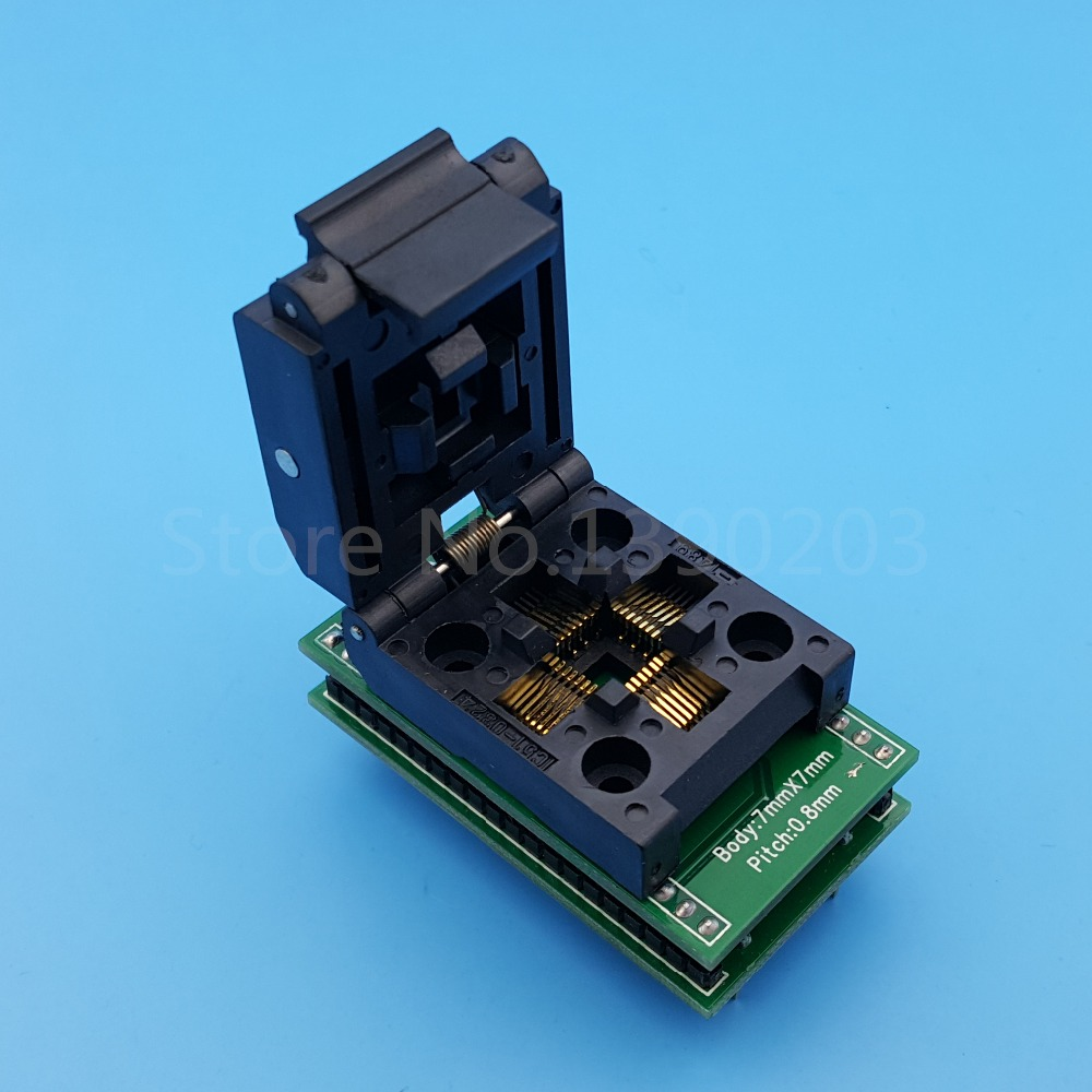 QFP32 TQFP32 FQFP32 To DIP32 SA636 Pitch 0.8mm IC Programmer Adapter Test Socket ic qfp32 programming block sa636 block burning test socket adapter convert