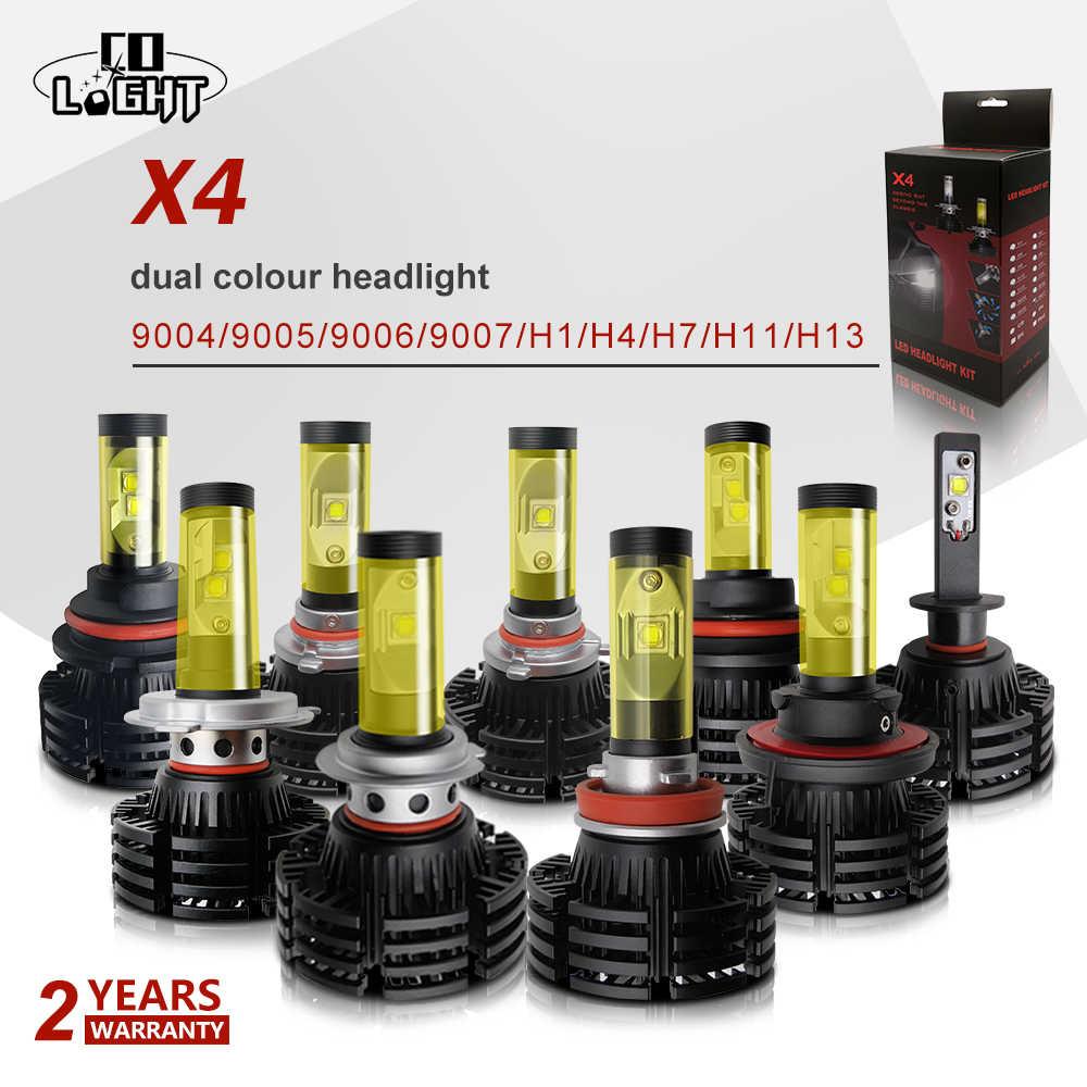 CO LIGHT H4 H7 Led 40W H11 9004 9005 Fog Lamp 9006 Hb4 Headlight 6500K 3000K for Lada Vaz 2115 2109 2104 Chevrolet Kalina BMW