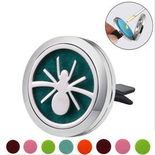 Spider shape Stainless Steel Car Air Freshener Perfume Essential Oil Diffuser Locket Random Send 1pcs Oil Pads Gift Girl Jewelry(China)