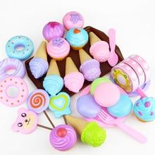 Кавайные Детские кухонные игрушки, пластиковые симуляторы, еда, торт, мороженое, десерт, ролевые игры, раннее образование, игрушка для детей, подарок