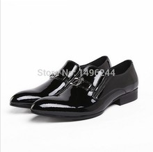 british style real top full grain cowhide patent leather qshoes shoes mens brand business dress luxury men fashion shoe y266-214