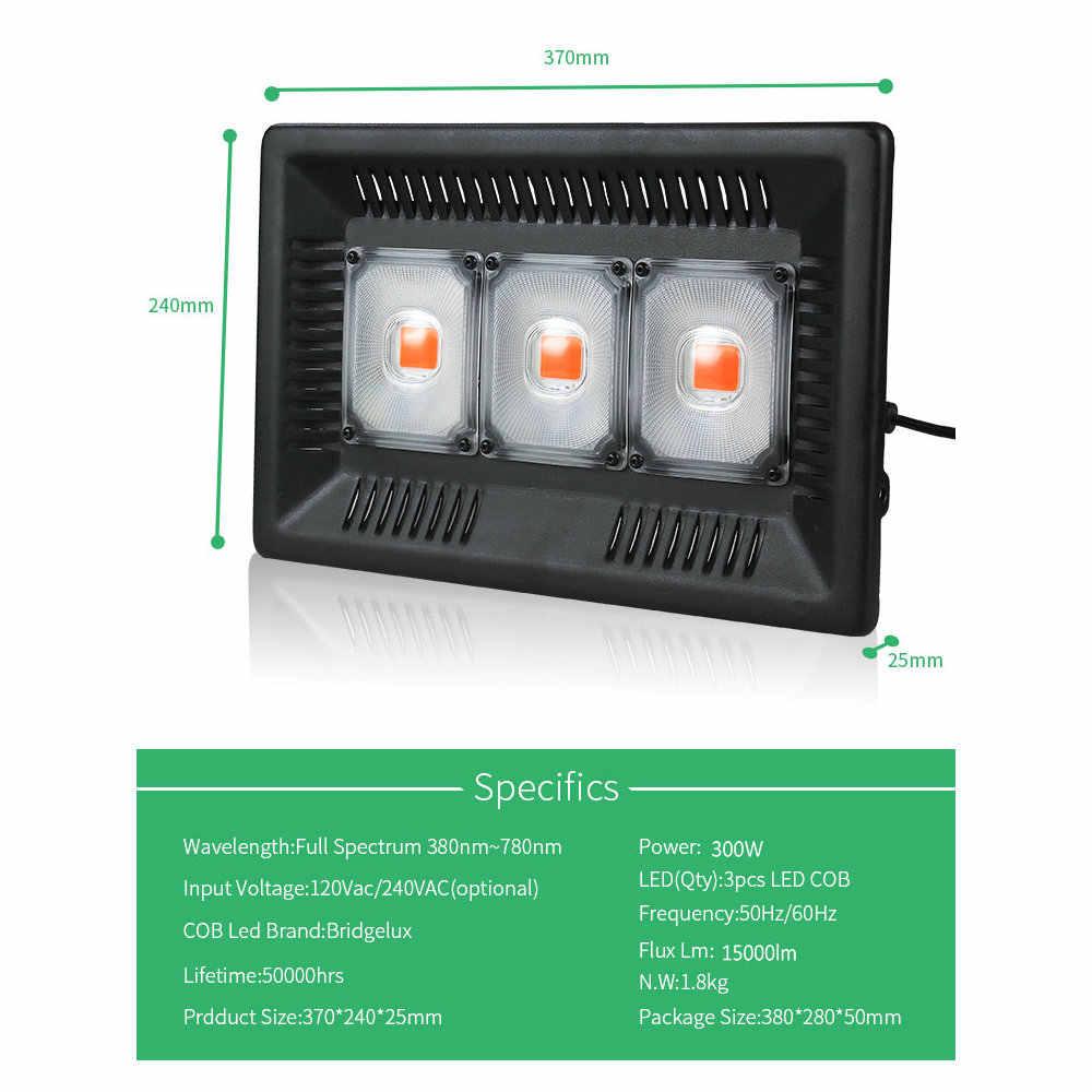 BUYBAY светодиодный светильник для выращивания, полный спектр, 100 Вт, 200 Вт, 300 Вт, IP67, COB, светодиодный светильник для выращивания, для растений, комнатных, наружных, гидропонных теплиц
