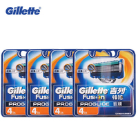 Genuine Gillette Fusion Proglide Shaving Razor Blades for Men Face Care Safety Razors Brands Razor Blades 16 PCS