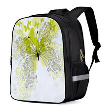 Yellow Flower Butterfly Computer Backpack Business Daypack Laptop Backpacks Laptop Backpack Work Backpack Knapsack Bag Bookbags(China)