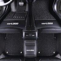 Luxury Custom Car Floor Mat With Car LOGO for HONDA Accord City Civic CRV Fit Insight Odyssey Stream Luxury Leather Mats for Car