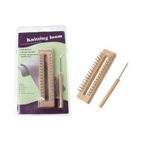 Wood Knitting Loom Make Tool For Hats Scarved Bag Toy Needle Craft Natural 27cm X 16cm