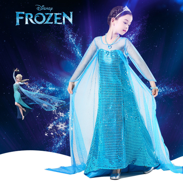 Disney Frozen dress anna elsa dress disfraz princess sofia infantil fever elza costume vestido rapunzel jurk  sc 1 st  AliExpress.com & Disney Frozen dress anna elsa dress disfraz princess sofia infantil ...
