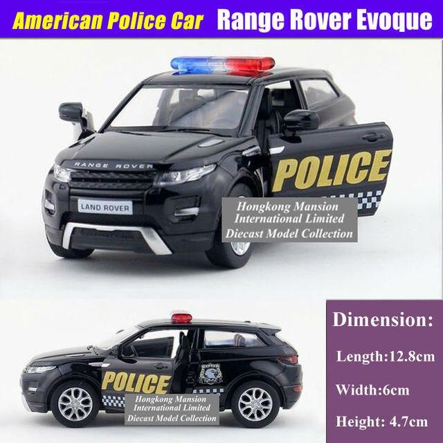 1b504d303d81b 1 36 Scale Alloy Diecast Modelo de Carro ForPolice Para Range Rover Evoque  Collection Pull
