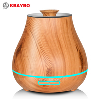 KBAYBO Aroma Essential Oil Diffuser Ultrasonic Air Humidifier With Wood Grain Electric LED Lights Aroma Diffuser