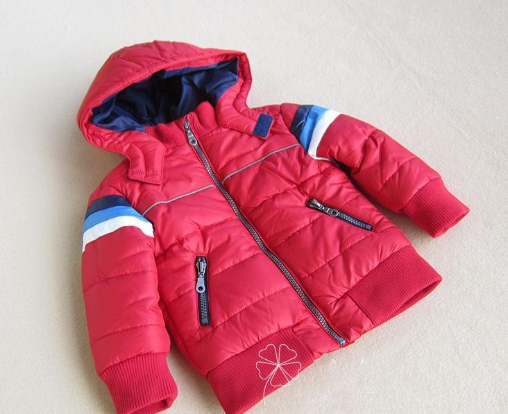 Балалар 12M- 4T қызыл сыртқы пальто. - Балалар киімі - фото 1