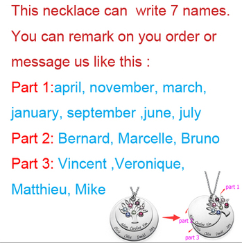 Personalized Family Tree Pendant Necklace with Birthstones New Arrival 1