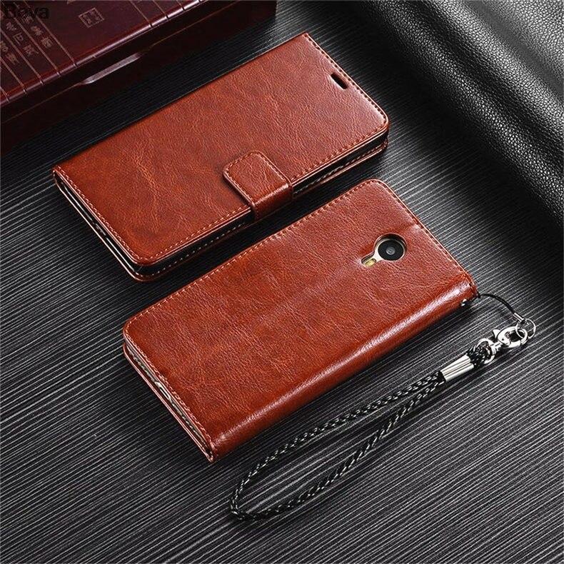 MEİZU M2 NOTE M571 Pu dəri qutusu üçün ultra nazik cüzdan flip - Cib telefonu aksesuarları və hissələri - Fotoqrafiya 6