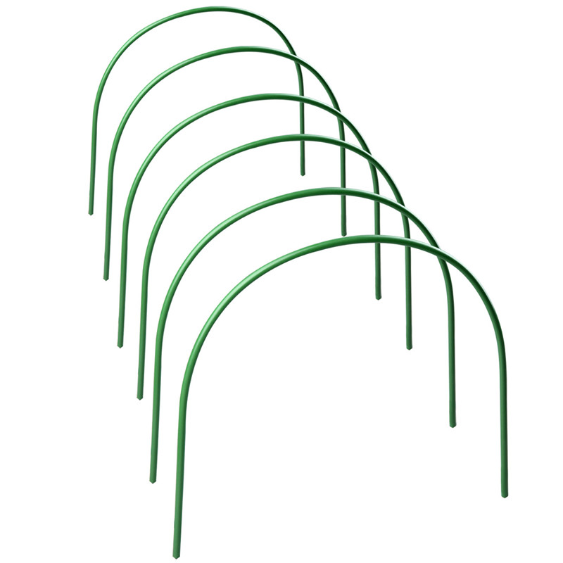 6Pcs Plastic Hoops Greenhouse Hoops For Plant Cover Support Grow Tunnel Plant Stent For Garden Agricultural Greenhouse Supplies