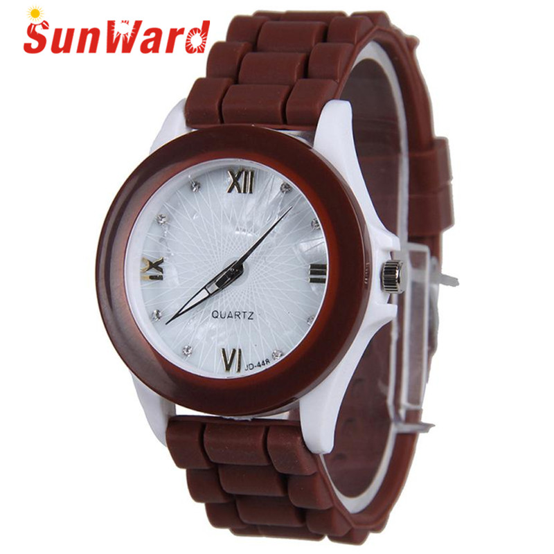 Women Watch Drop Shipping Gift Relogio Feminino Reloj Mujeres Silicone Rubber Jelly Gel Quartz Casual Sports Wrist June22 new fashion unisex women wristwatch quartz watch sports casual silicone reloj gifts relogio feminino clock digital watch orange