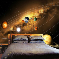 Customize Personality 3D Photo Wallpaper Living Room Sofa Backdrop Murals Modern Solar System Planet Landscape Mural