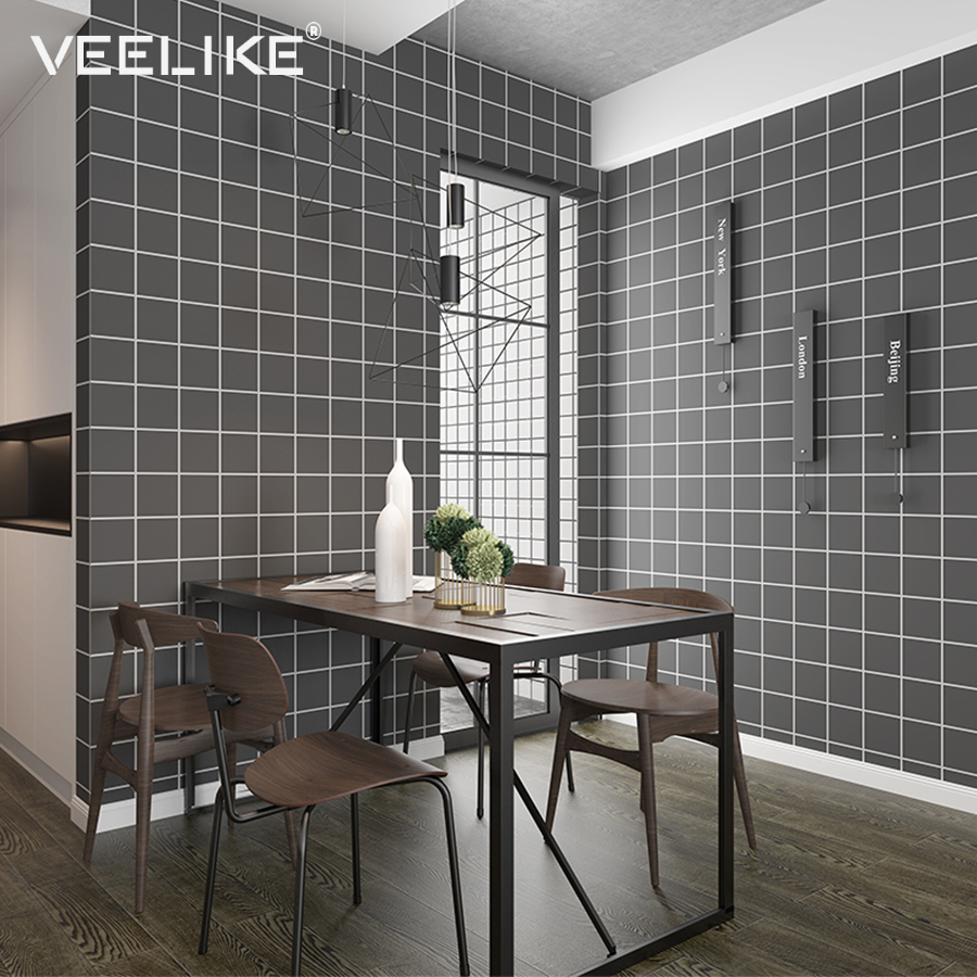 Bathroom Vinyl Wall Covering PVC Mosaic Kitchen Wallpaper ...