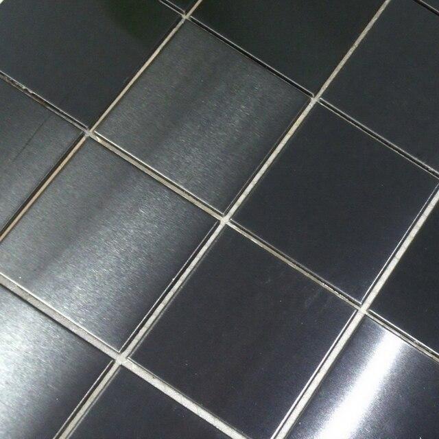 48 48mm Schwarz Edelstahl Metall Fliesen Fur Haus Renovierung Kuche