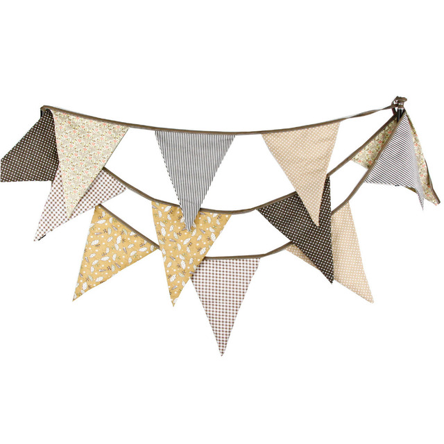 1pcs 3 7m 12 Flags Cloth Wedding Flag Banner Party Decoration Home Birthday Festival Wall Deco